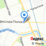 Попов на карте Санкт-Петербурга