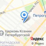 Симметрия SPA на карте Санкт-Петербурга