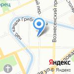 Форвард на карте Санкт-Петербурга