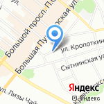 Воскова 10 на карте Санкт-Петербурга
