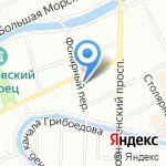 Ауремо на карте Санкт-Петербурга