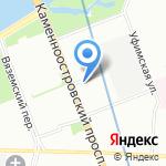 Зелёная Долина на карте Санкт-Петербурга