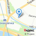 Всероссийское общество слепых на карте Санкт-Петербурга
