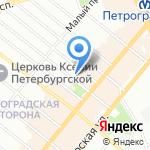Ажур на карте Санкт-Петербурга