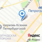 Клиника современных хирургических технологий на карте Санкт-Петербурга