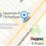 Finnkarelia на карте Санкт-Петербурга