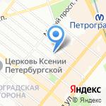 Террапевтика на карте Санкт-Петербурга