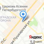Студия маникюра Регины Лаки на карте Санкт-Петербурга