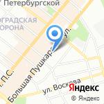 Личность на карте Санкт-Петербурга