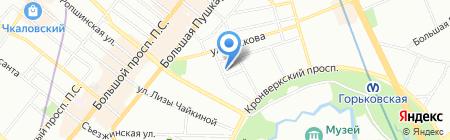Анфея на карте Санкт-Петербурга