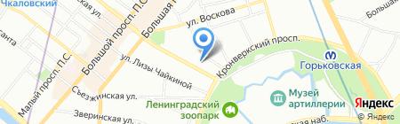 Средняя общеобразовательная школа №87 на карте Санкт-Петербурга