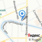 Глубина материи на карте Санкт-Петербурга