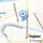 Казанская 58 на карте Санкт-Петербурга