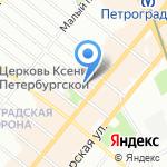 Петроторг на карте Санкт-Петербурга