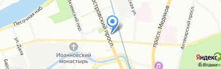 Многофункциональный центр предоставления государственных услуг Петроградского района на карте Санкт-Петербурга