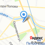 La danse на карте Санкт-Петербурга