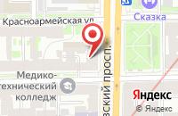 Схема проезда до компании Оверпринт в Санкт-Петербурге