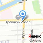 Интертрест на карте Санкт-Петербурга