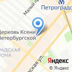 Кураж на карте Санкт-Петербурга