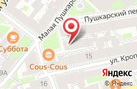 Схема проезда до компании Золотое Колесо в Санкт-Петербурге