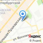 Дельфин на карте Санкт-Петербурга