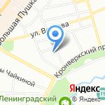 МОТОДОМ на карте Санкт-Петербурга