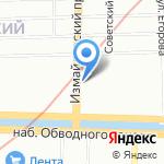 Амбрелла на карте Санкт-Петербурга