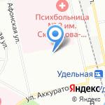 Удельное на карте Санкт-Петербурга