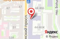 Схема проезда до компании Тэф в Санкт-Петербурге