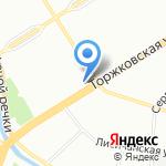 Горжилобмен Приморского района на карте Санкт-Петербурга