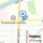 Комус на карте Санкт-Петербурга