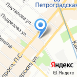 Бармалеева улица на карте Санкт-Петербурга