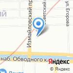 Коломбина на карте Санкт-Петербурга