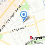 Улица Гобеленов на карте Санкт-Петербурга