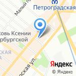 Аванти на карте Санкт-Петербурга