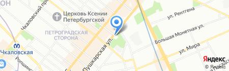 Великолепный Век на карте Санкт-Петербурга