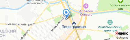 Школа бального и современного танца Фаины Смолкиной на карте Санкт-Петербурга