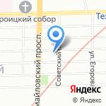 Средняя общеобразовательная школа №266 с углубленным изучением французского языка на карте Санкт-Петербурга
