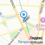 Иприс на карте Санкт-Петербурга