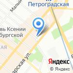 КБ Русьрегионбанк на карте Санкт-Петербурга