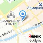 Северо-Западное пароходство на карте Санкт-Петербурга