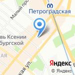 Ай Эм Джи на карте Санкт-Петербурга