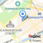 Совершенная на карте Санкт-Петербурга