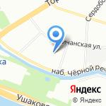 Гидроизол на карте Санкт-Петербурга
