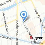 Колумб на карте Санкт-Петербурга