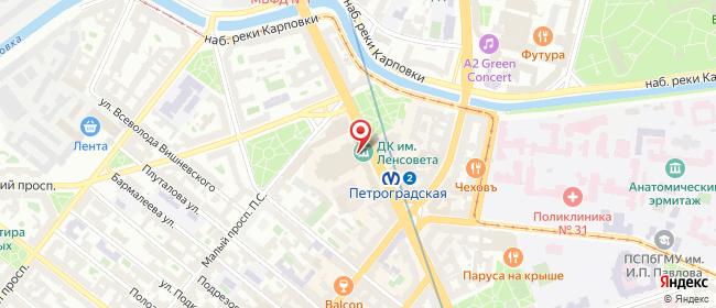 Карта расположения пункта доставки Санкт-Петербург Каменноостровский в городе Санкт-Петербург