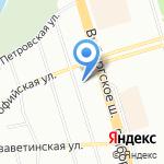 CDF на карте Санкт-Петербурга