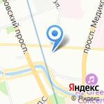 Санкт-Петербургская государственная химико-фармацевтическая академия на карте Санкт-Петербурга