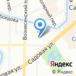 Амбассадор на карте Санкт-Петербурга