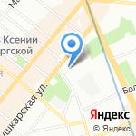 Управление №10 Метростроя на карте Санкт-Петербурга